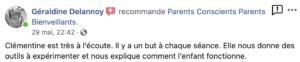 Avis Facebook Clémentine Prouteau